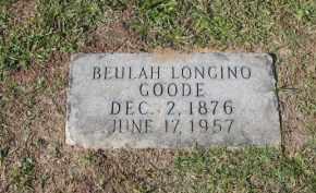 LONGINO GOODE, BEULAH - Columbia County, Arkansas   BEULAH LONGINO GOODE - Arkansas Gravestone Photos
