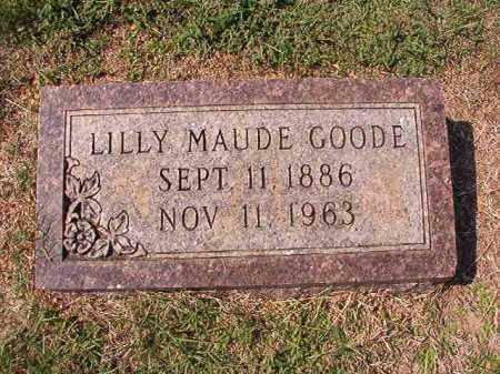 GOODE, LILLY MAUDE - Columbia County, Arkansas | LILLY MAUDE GOODE - Arkansas Gravestone Photos