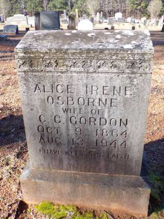 OSBORNE GORDON, ALICE IRENE - Columbia County, Arkansas | ALICE IRENE OSBORNE GORDON - Arkansas Gravestone Photos