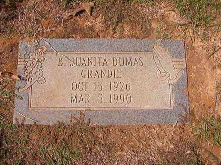 GRANDIE, B JUANITA - Columbia County, Arkansas   B JUANITA GRANDIE - Arkansas Gravestone Photos