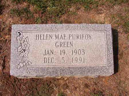 PURIFOY GREEN, HELEN MAE - Columbia County, Arkansas | HELEN MAE PURIFOY GREEN - Arkansas Gravestone Photos