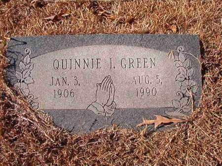 GREEN, QUINNIE I - Columbia County, Arkansas   QUINNIE I GREEN - Arkansas Gravestone Photos