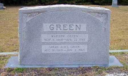 GREEN, SARAH ALICE - Columbia County, Arkansas | SARAH ALICE GREEN - Arkansas Gravestone Photos