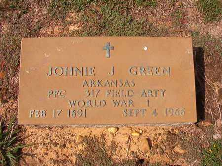 GREEN (VETERAN WWI), JOHNNIE J - Columbia County, Arkansas | JOHNNIE J GREEN (VETERAN WWI) - Arkansas Gravestone Photos