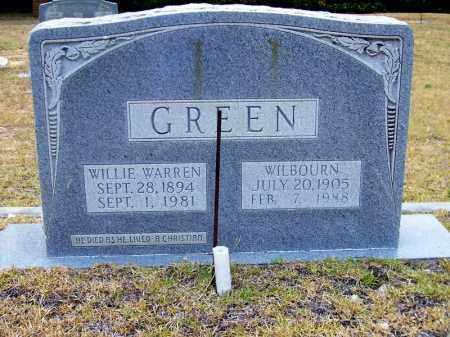 GREEN, WILLIE WARREN - Columbia County, Arkansas | WILLIE WARREN GREEN - Arkansas Gravestone Photos
