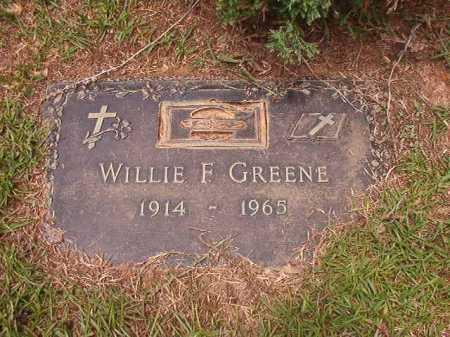 GREENE, WILLIE F - Columbia County, Arkansas   WILLIE F GREENE - Arkansas Gravestone Photos