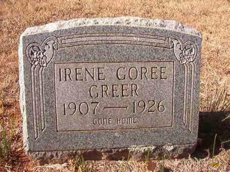 GREER, IRENE - Columbia County, Arkansas | IRENE GREER - Arkansas Gravestone Photos