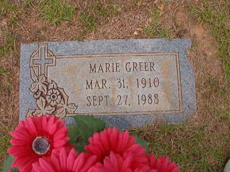 GREER, MARIE - Columbia County, Arkansas   MARIE GREER - Arkansas Gravestone Photos