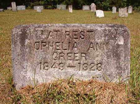 GREER, OPHELIA ANN - Columbia County, Arkansas   OPHELIA ANN GREER - Arkansas Gravestone Photos