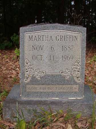 GRIFFIN, MARTHA - Columbia County, Arkansas | MARTHA GRIFFIN - Arkansas Gravestone Photos