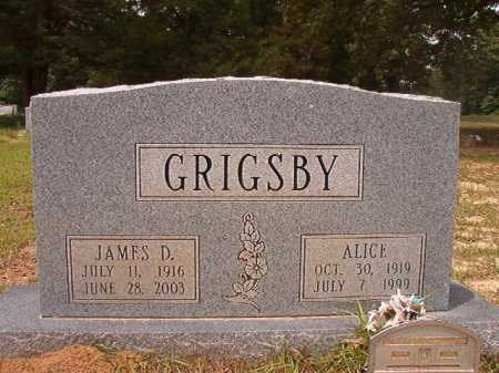 GRIGSBY, JAMES D - Columbia County, Arkansas | JAMES D GRIGSBY - Arkansas Gravestone Photos