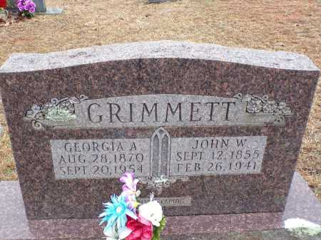 GRIMMETT, JOHN W - Columbia County, Arkansas   JOHN W GRIMMETT - Arkansas Gravestone Photos