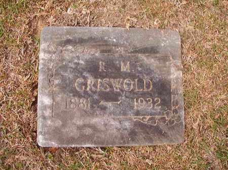 GRISWOLD, R M - Columbia County, Arkansas | R M GRISWOLD - Arkansas Gravestone Photos