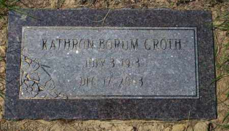 GROTH, KATHRON - Columbia County, Arkansas | KATHRON GROTH - Arkansas Gravestone Photos