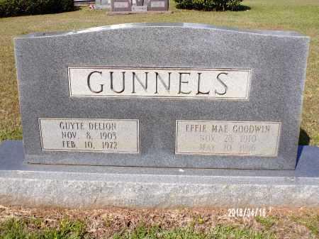 GOODWIN GUNNELS, EFFIE MAE - Columbia County, Arkansas | EFFIE MAE GOODWIN GUNNELS - Arkansas Gravestone Photos