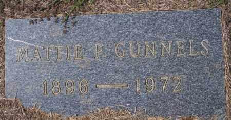 GUNNELS, MATTIE P - Columbia County, Arkansas | MATTIE P GUNNELS - Arkansas Gravestone Photos