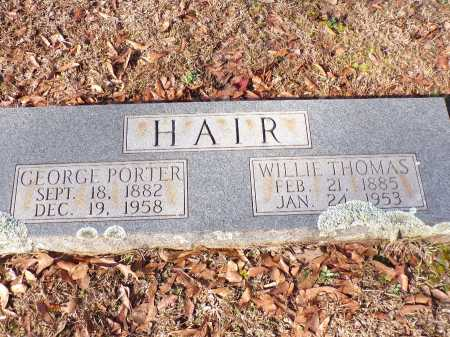 HAIR, WILLIE - Columbia County, Arkansas | WILLIE HAIR - Arkansas Gravestone Photos