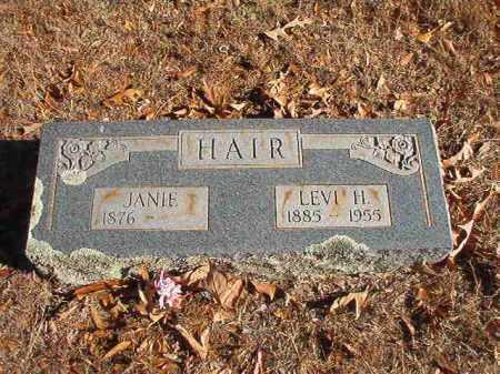 HAIR, JANIE - Columbia County, Arkansas | JANIE HAIR - Arkansas Gravestone Photos