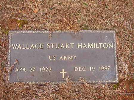 HAMILTON (VETERAN), WALLACE STUART - Columbia County, Arkansas | WALLACE STUART HAMILTON (VETERAN) - Arkansas Gravestone Photos