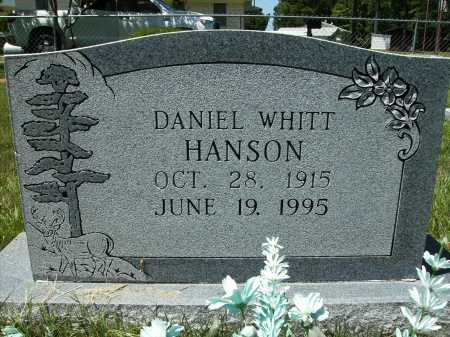 HANSON, DANIEL WHITT - Columbia County, Arkansas | DANIEL WHITT HANSON - Arkansas Gravestone Photos