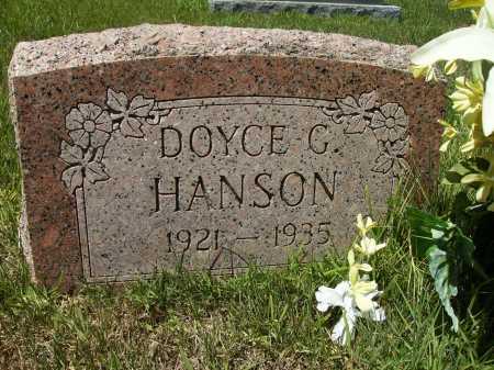 HANSON, DOYCE G - Columbia County, Arkansas   DOYCE G HANSON - Arkansas Gravestone Photos