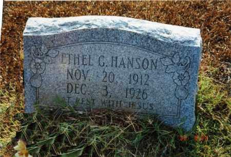 HANSON, ETHEL G. - Columbia County, Arkansas   ETHEL G. HANSON - Arkansas Gravestone Photos