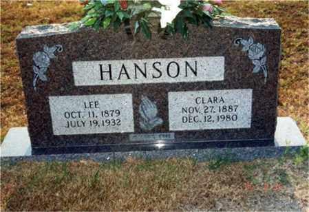 HANSON, CLARA - Columbia County, Arkansas   CLARA HANSON - Arkansas Gravestone Photos