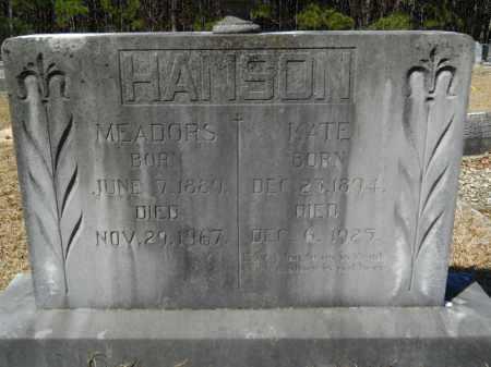 HANSON, MEADORS - Columbia County, Arkansas   MEADORS HANSON - Arkansas Gravestone Photos