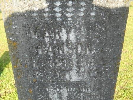 HANSON, MARY L (CLOSE UP) - Columbia County, Arkansas   MARY L (CLOSE UP) HANSON - Arkansas Gravestone Photos