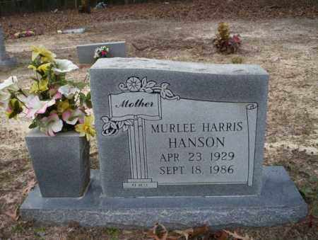 HARRIS HANSON, MURLEE - Columbia County, Arkansas | MURLEE HARRIS HANSON - Arkansas Gravestone Photos