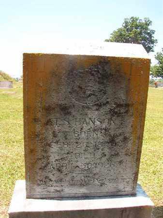 HANSON, T S - Columbia County, Arkansas   T S HANSON - Arkansas Gravestone Photos