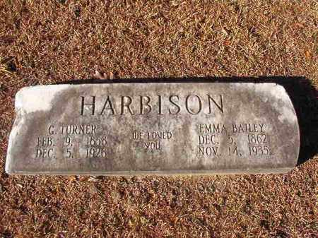 HARBISON, G TURNER - Columbia County, Arkansas | G TURNER HARBISON - Arkansas Gravestone Photos