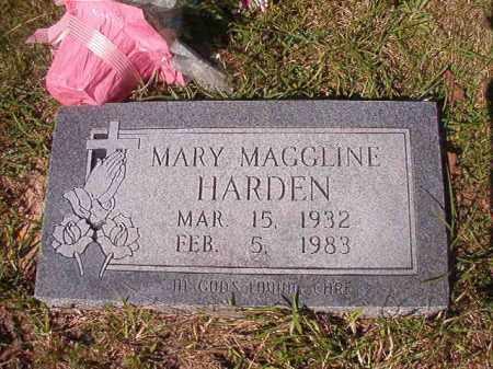 HARDEN, MARY MAGGLINE - Columbia County, Arkansas   MARY MAGGLINE HARDEN - Arkansas Gravestone Photos