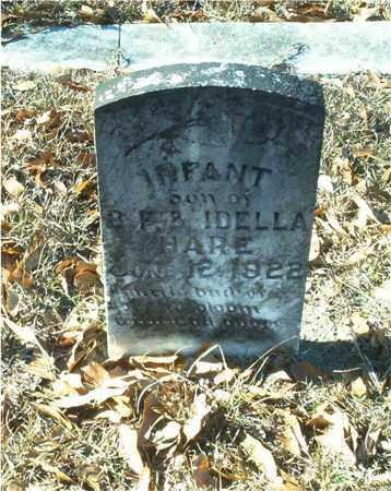 HARE, INFANT SON - Columbia County, Arkansas | INFANT SON HARE - Arkansas Gravestone Photos