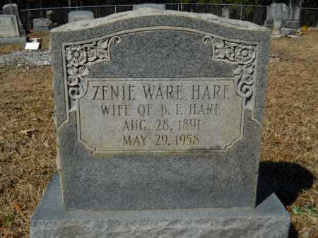 WARE HARE, ZENIE - Columbia County, Arkansas | ZENIE WARE HARE - Arkansas Gravestone Photos