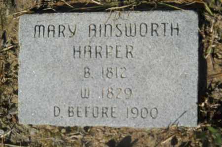 HARPER, MARY AINSWORTH - Columbia County, Arkansas | MARY AINSWORTH HARPER - Arkansas Gravestone Photos
