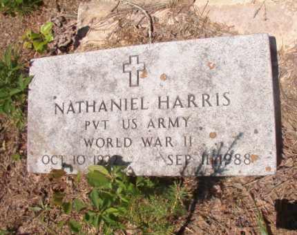HARRIS (VETERAN WWII), NATHANIEL - Columbia County, Arkansas | NATHANIEL HARRIS (VETERAN WWII) - Arkansas Gravestone Photos