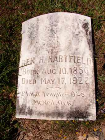 HARTFIELD, BEN H - Columbia County, Arkansas | BEN H HARTFIELD - Arkansas Gravestone Photos