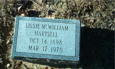 MCWILLIAM HARTSELL, LISSIE - Columbia County, Arkansas | LISSIE MCWILLIAM HARTSELL - Arkansas Gravestone Photos