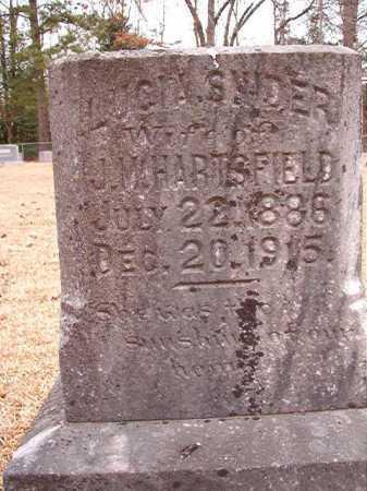 SNIDER HARTSFIELD, LUCIA - Columbia County, Arkansas   LUCIA SNIDER HARTSFIELD - Arkansas Gravestone Photos