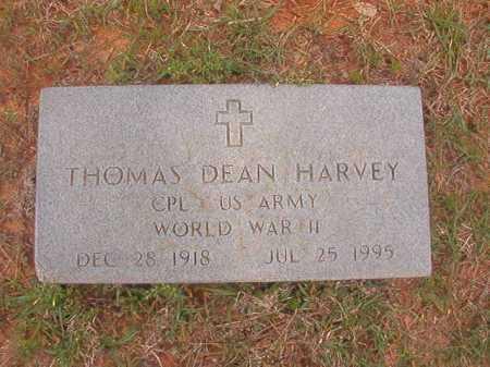 HARVEY (VETERAN WWII), THOMAS DEAN - Columbia County, Arkansas | THOMAS DEAN HARVEY (VETERAN WWII) - Arkansas Gravestone Photos