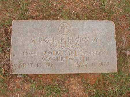 HARVEY (VETERAN WWII), VIRGIL P - Columbia County, Arkansas | VIRGIL P HARVEY (VETERAN WWII) - Arkansas Gravestone Photos