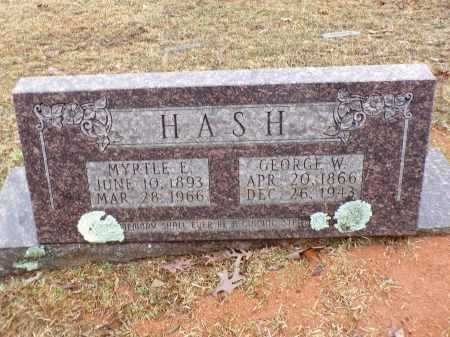 HASH, MYRTLE E - Columbia County, Arkansas | MYRTLE E HASH - Arkansas Gravestone Photos