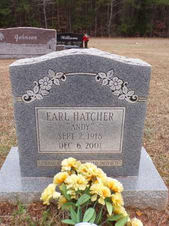 "HATCHER, EARL ""ANDY"" - Columbia County, Arkansas | EARL ""ANDY"" HATCHER - Arkansas Gravestone Photos"