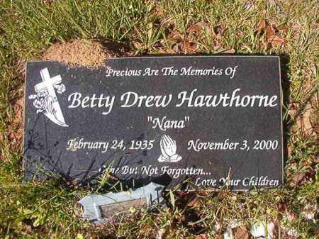 HAWTHORNE, BETTY - Columbia County, Arkansas | BETTY HAWTHORNE - Arkansas Gravestone Photos