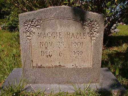 HAZLE, MAGGIE - Columbia County, Arkansas   MAGGIE HAZLE - Arkansas Gravestone Photos
