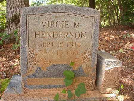 HENDERSON, VIRGIE M - Columbia County, Arkansas | VIRGIE M HENDERSON - Arkansas Gravestone Photos