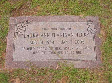 FLANIGAN HENRY, LAURA ANN - Columbia County, Arkansas | LAURA ANN FLANIGAN HENRY - Arkansas Gravestone Photos