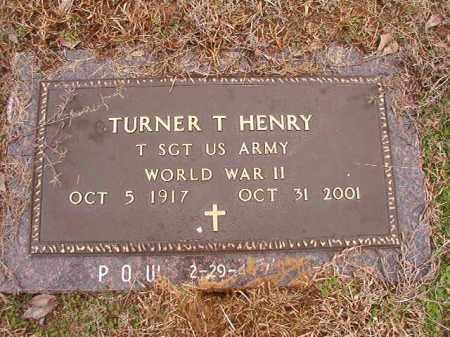 HENRY (VETERAN WWII, POW), TURNER T - Columbia County, Arkansas | TURNER T HENRY (VETERAN WWII, POW) - Arkansas Gravestone Photos