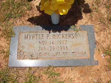 HICKERSON, MYRTLE P - Columbia County, Arkansas | MYRTLE P HICKERSON - Arkansas Gravestone Photos